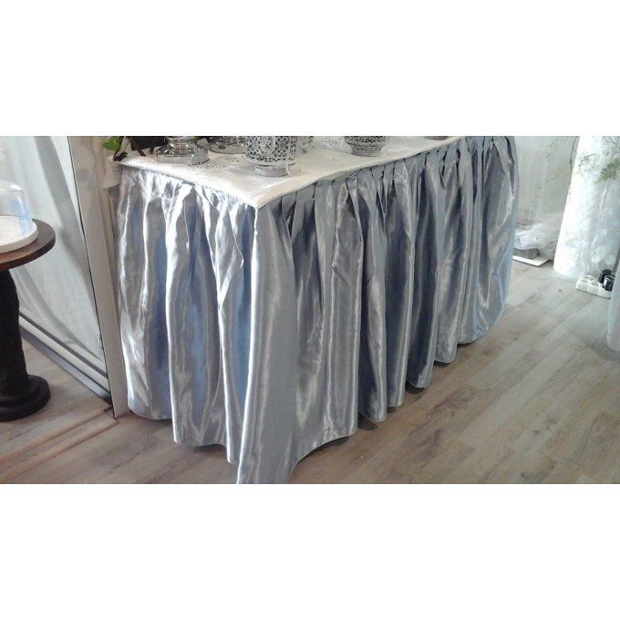 Jupe de table satin Grise