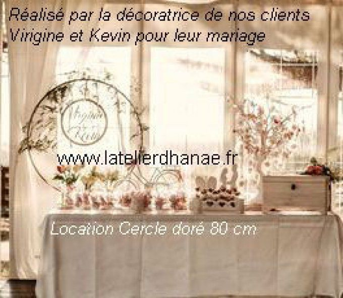 Location centre de table Cercle diamètre 80 cm