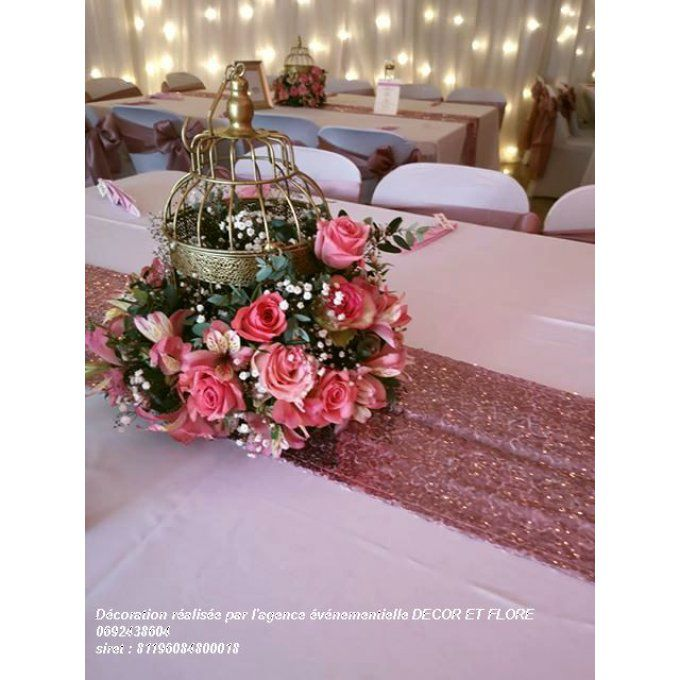 Chemin de table Sequin Rose Nude