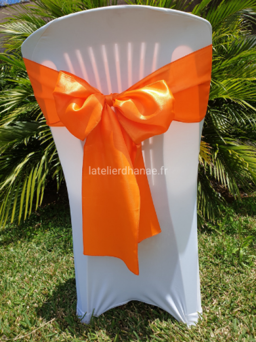 Noeud satin Orange