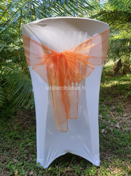 Noeud organza Orange