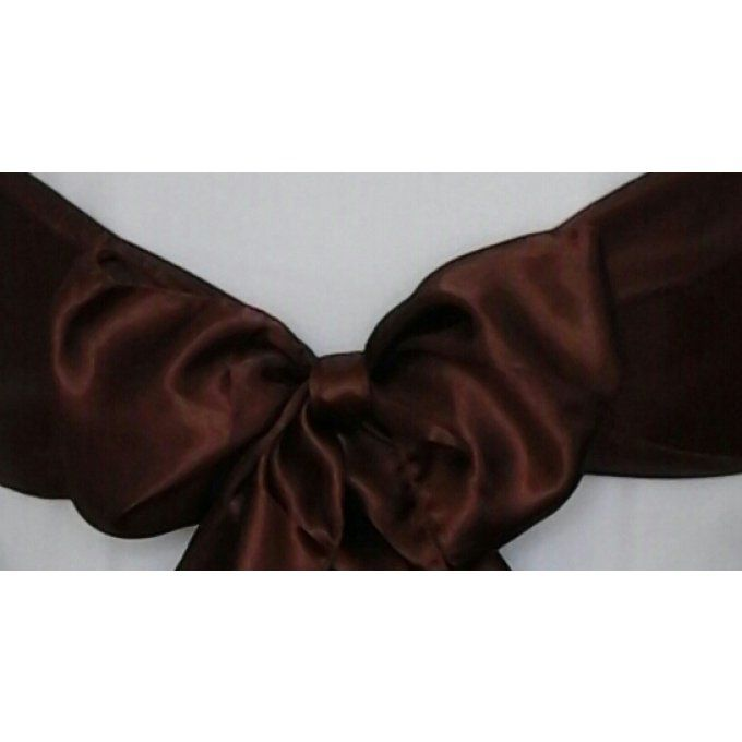 Noeud satin marron Chocolat